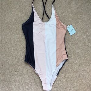 NWT! Cupshe Striped One-piece Swimsuit